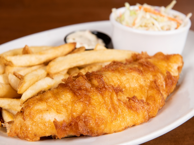 Beer-Battered Walleye & Chips image