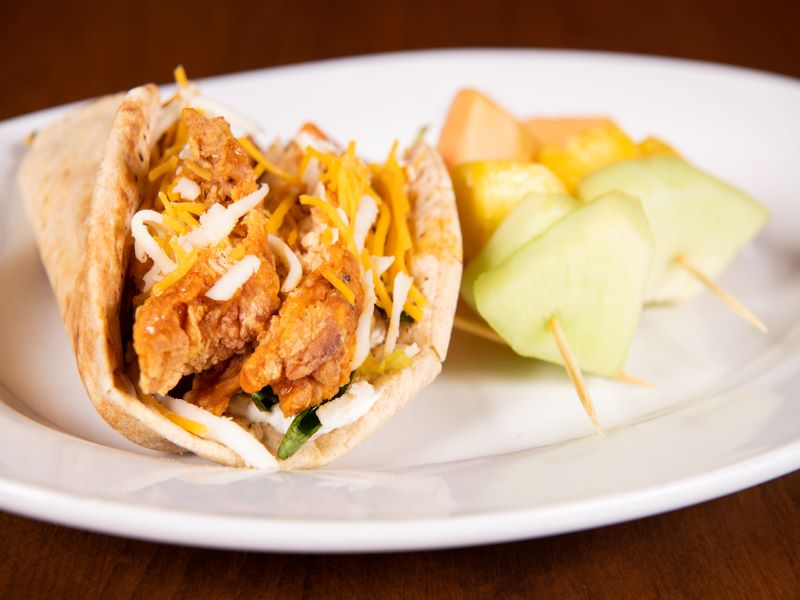 Eating Fit! Buffalo Chicken Pita image