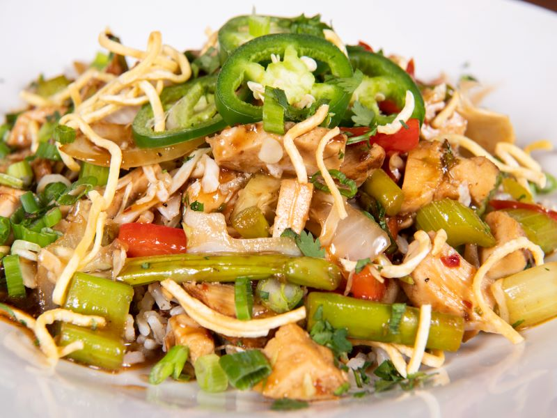 Chicken Asparagus Stir Fry Bowl image