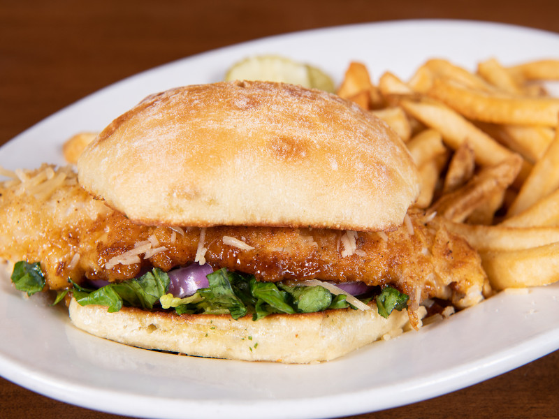 Parmesan Walleye Sandwich image
